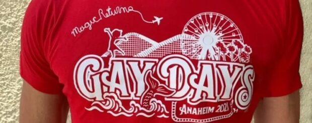 Gay Days Anaheim t-shirt