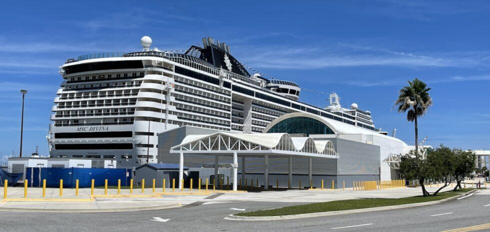 MSC Divina docked at Port Canaveral.