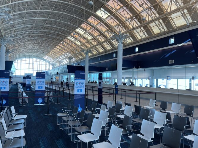 The MSC Cruises terminal at Port Canaveral.