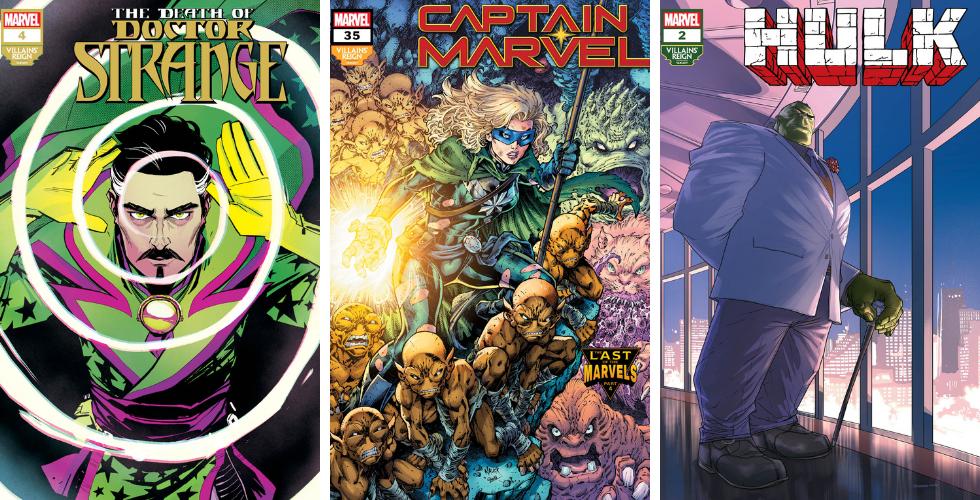 villains' reign variant covers