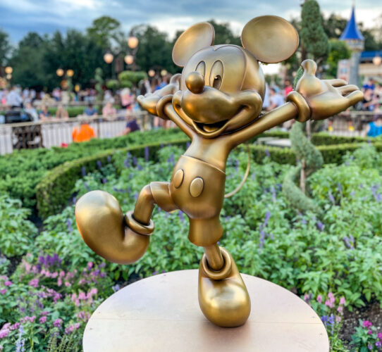 Mickey Mouse golden statue