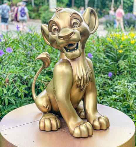 Simba golden statue