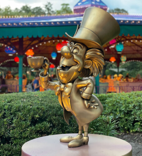 The Mad Hatter golden statue