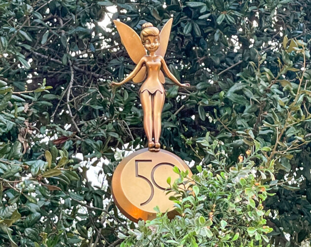 Tinker Bell fab 50 golden statue