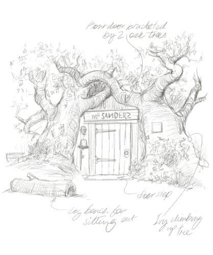 Winnie the Pooh house - Exterior sketch