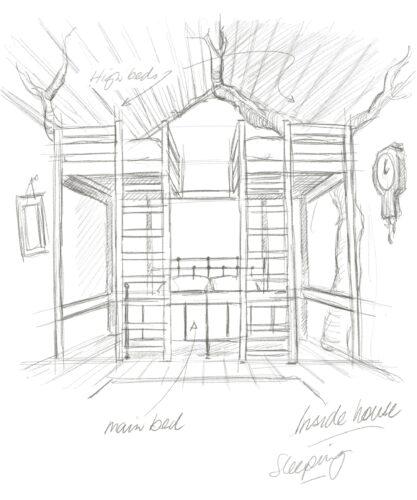 Winnie the Pooh House interior sketch
