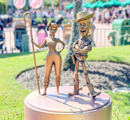 Woody and Bo Peep Disney fab 50 golden statues