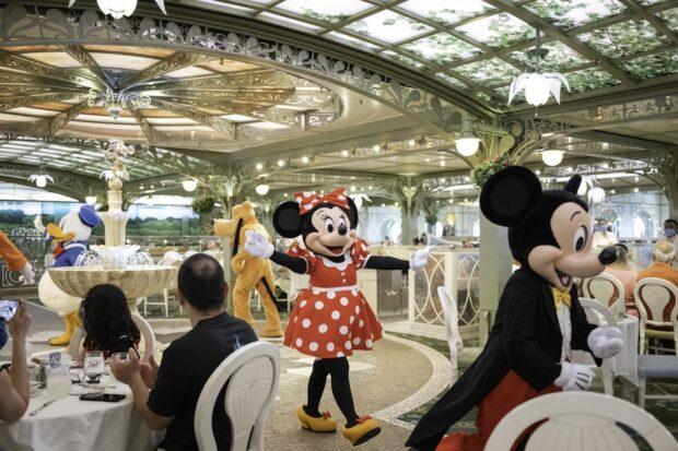 Disney Cruise Line - Characters in Enchanted Garden