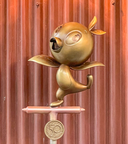 Orange Bird golden statue.